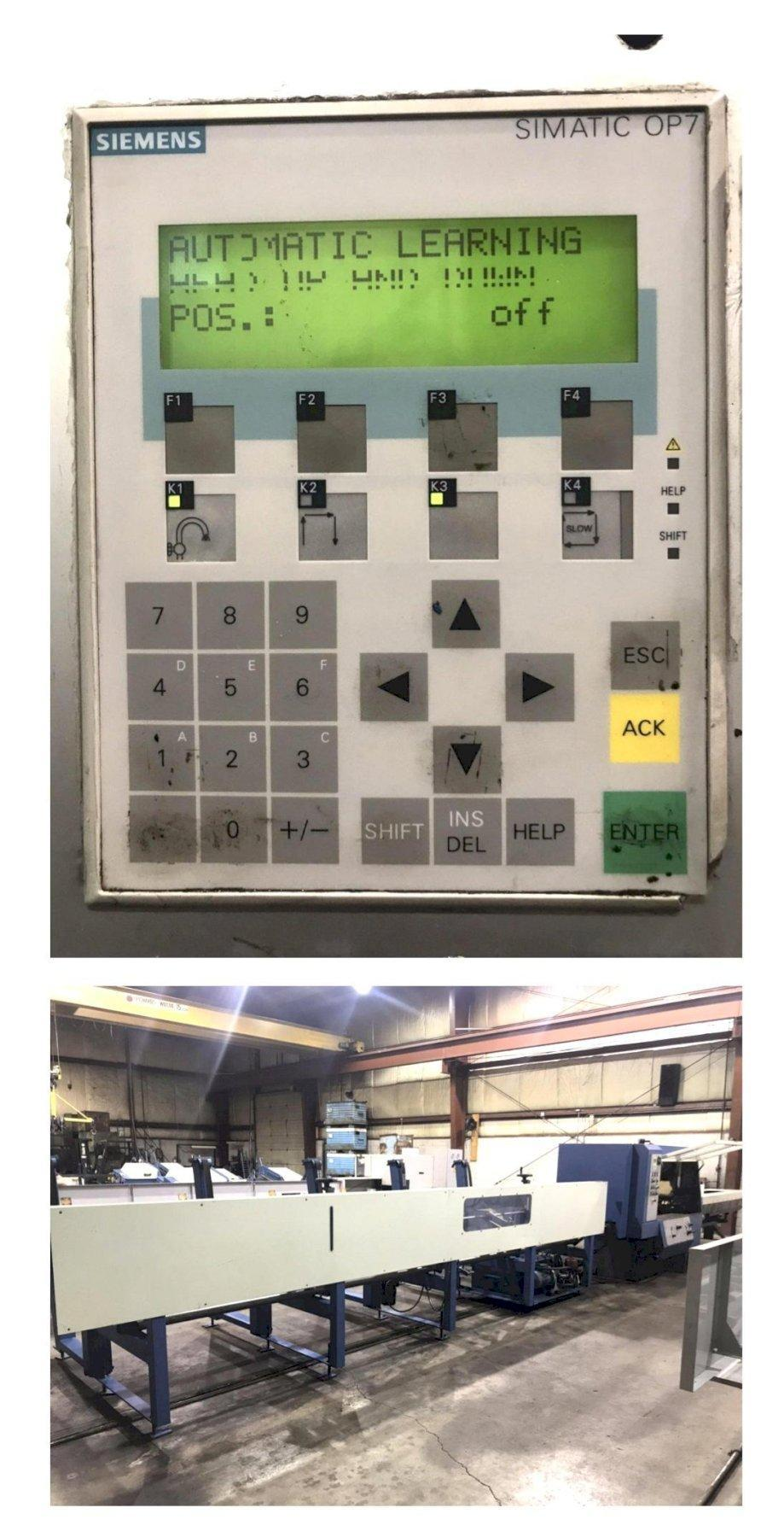 USED SIMEC MODEL CICLOMEC 122 CNC AUTOMATIC COLD SAW WITH 20' LOADING RACK, Stk# 00035 Year 2001