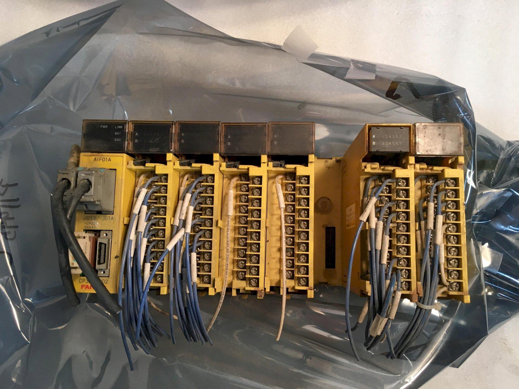 FANUC ABU10A I/O Rack, A03B-0807-C001, C104, C154 8-Slot Rack