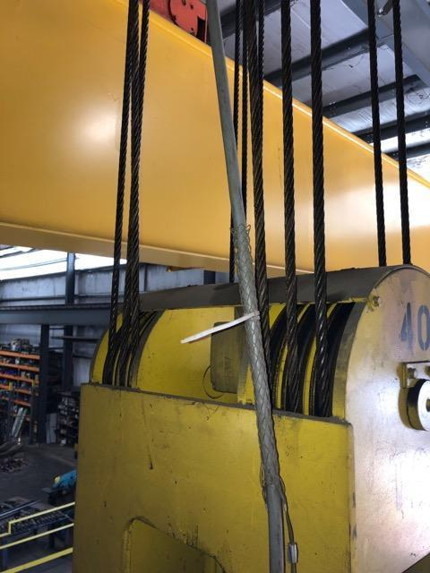 40 Ton x 75 OMI Double Girder Overhead Crane- Year 2015
