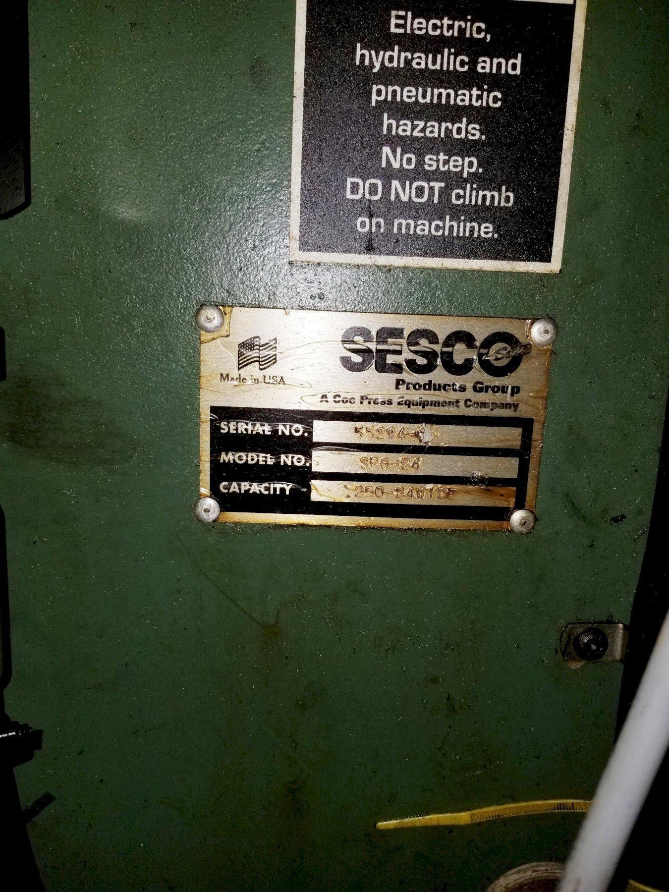 """24"""" X .250"""" SESCO SPG-24 SCRAP CHOPPER. STOCK # 1262820"""