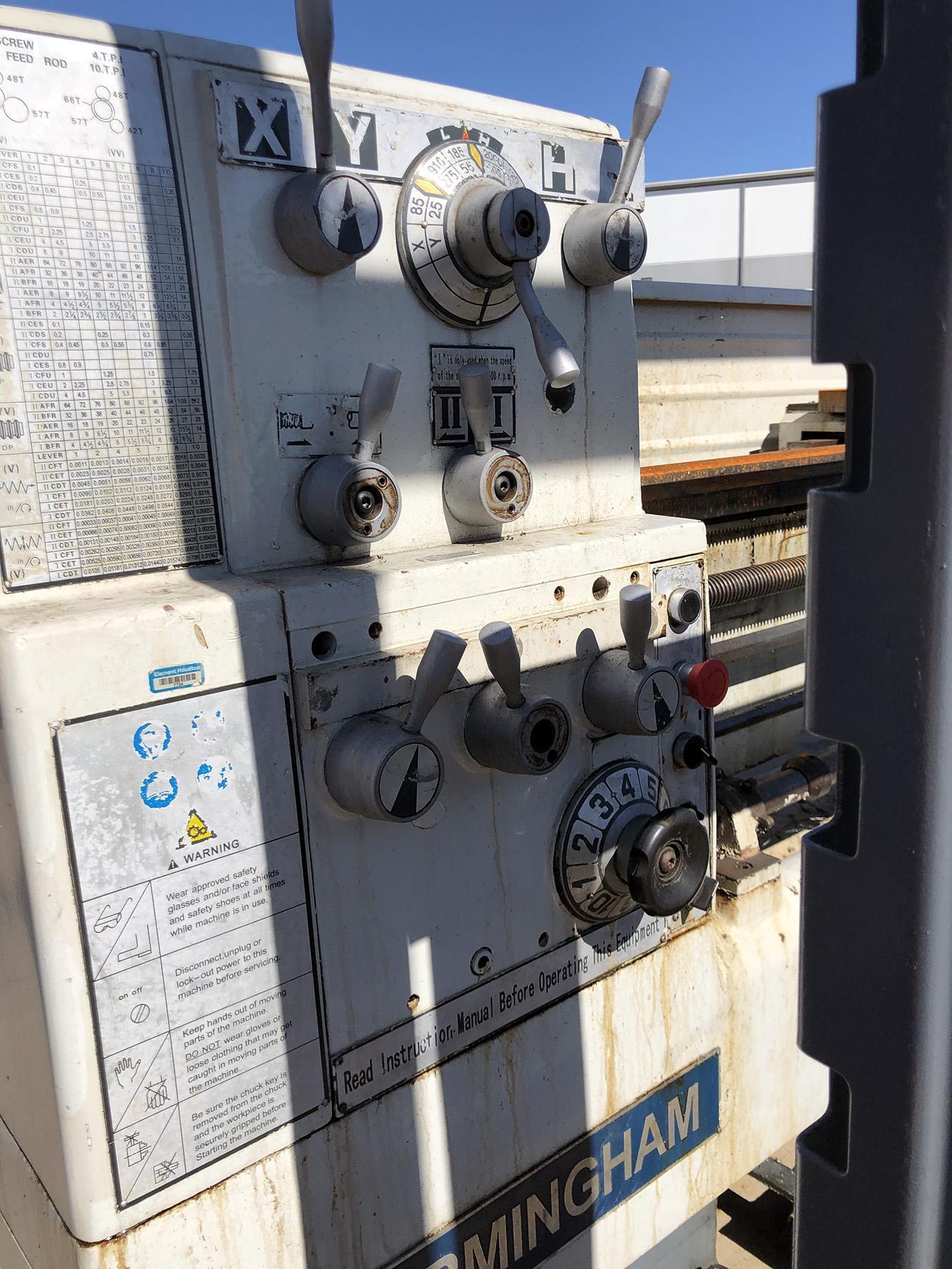 "USED, 16"" X 60"" BIRMINGHAM MODEL YCL-1660 GAP BED ENGINE LATHE"