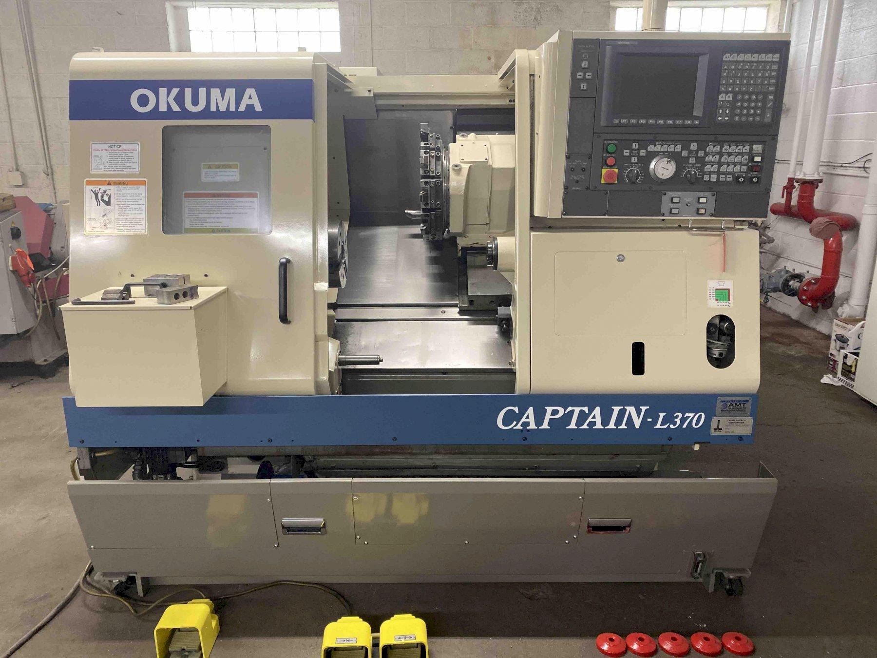 Okuma Captain L370BB CNC Lathe, OSP E100 Control, 10