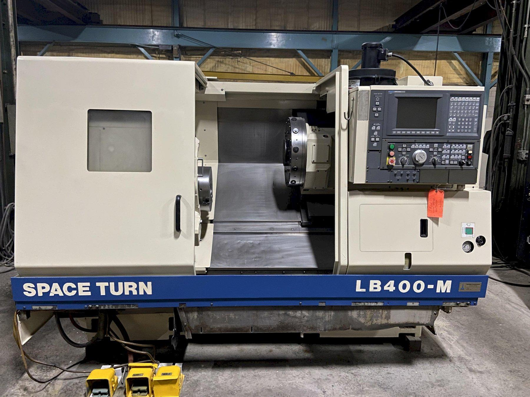 "Okuma LB400M CNC Lathe w/Milling, U100L Control, 12"" Chuck, 24.4"" Swing, 26"" Centers, 2.75"" Bar Capacity, 12 Position Turret, Probe, Tool Holders, Tailstock, 2000"