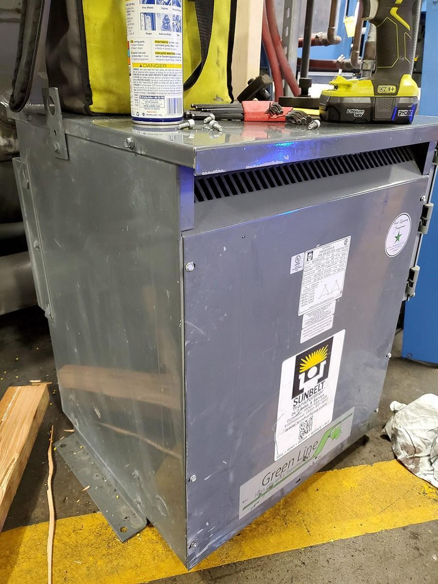 20 KVA SUNBELT 440 DELTA TO 220 DELTA 3 PHASE TRANSFORMER: STOCK 12744