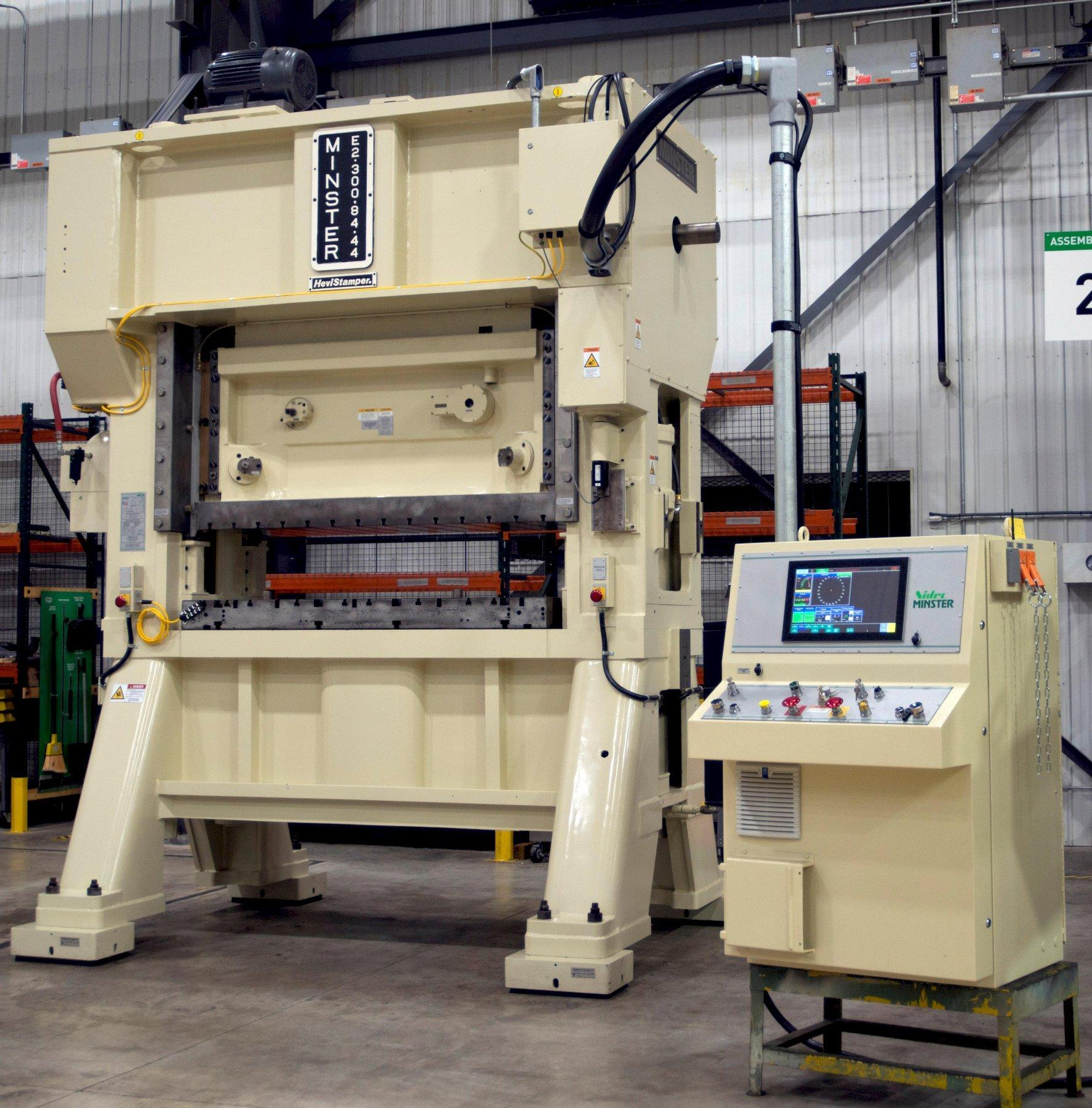 Minster E2-300-84 Straight Side Press, Rebuilt