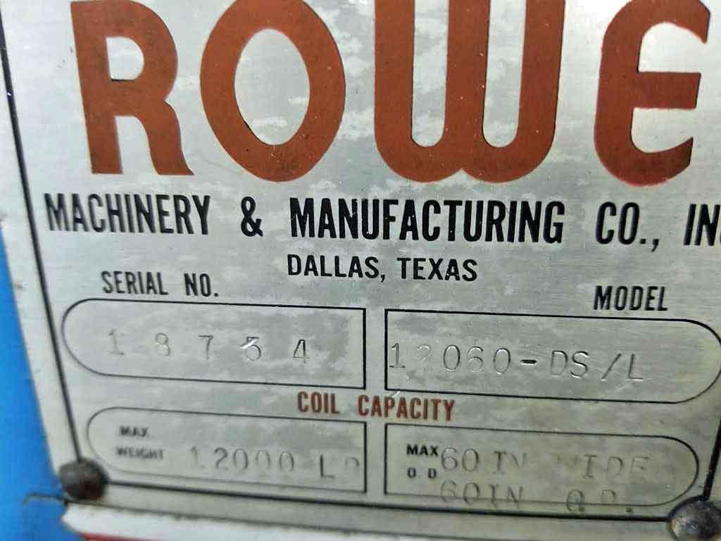 "60"" x 0.109"" x 12,000# Rowe Cut To Length Line"