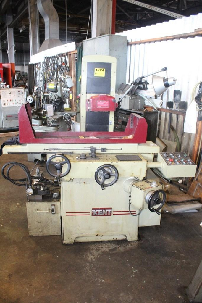 "8"" X 18"" KENT #KSG-818AHD AUTOMATIC HYDRAULIC SURFACE GRINDER: STOCK #11062"