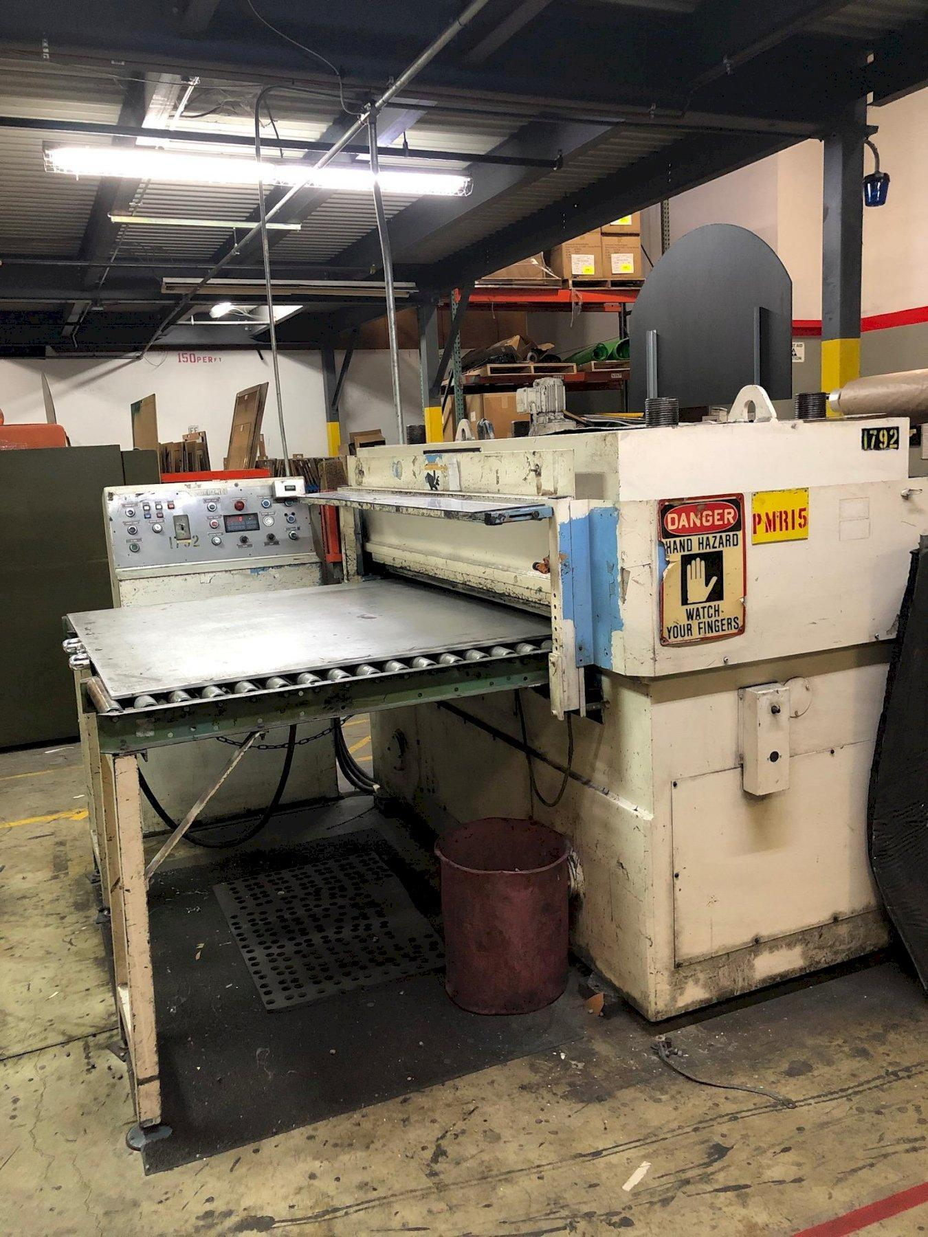 "100 TON PEDERSEN HYDRAULIC DIE CUTTING PRESS, MODEL 601M-16, 4.38"" STR, 7.75"" DLO, 63"" LR X 39.50"" CUTTING AREA"