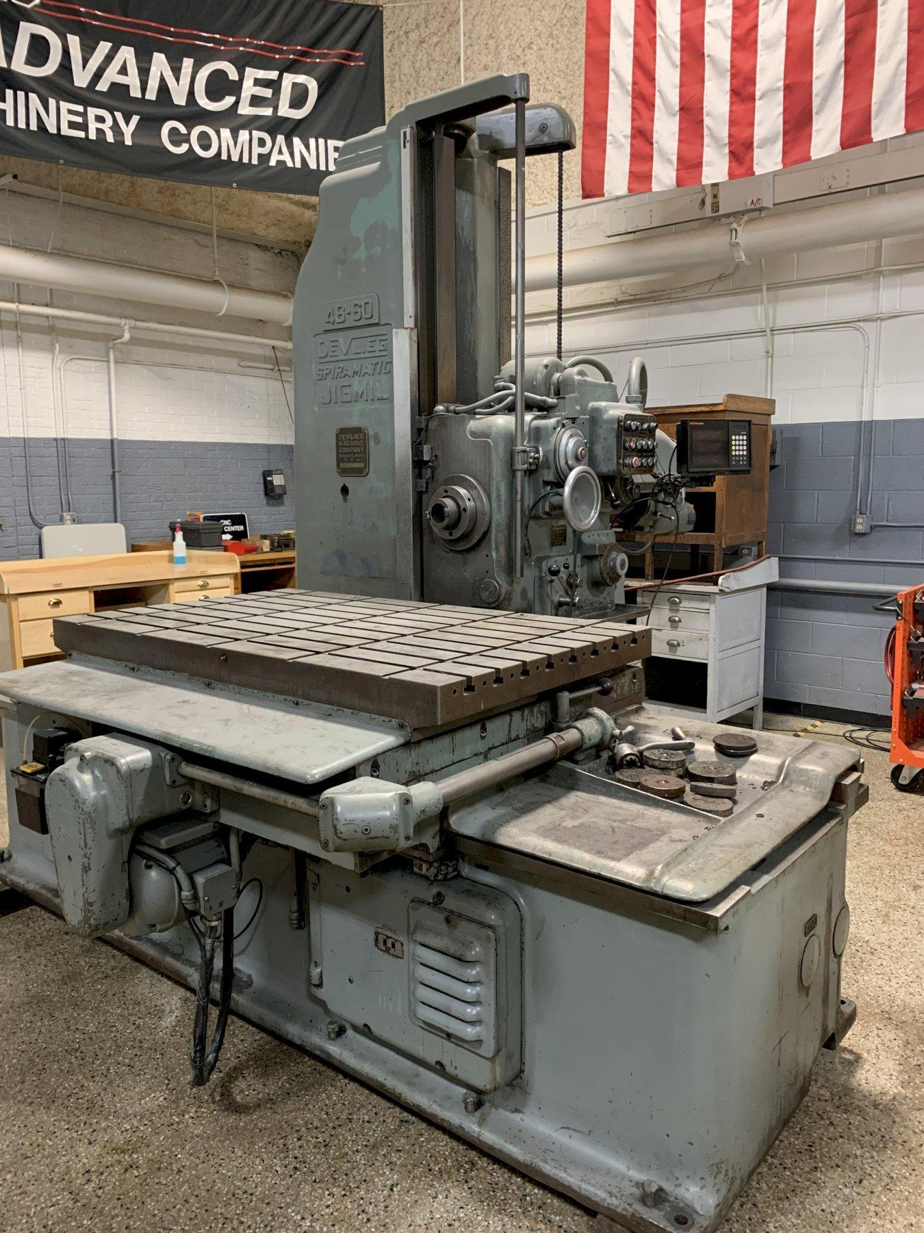 Devlieg 4B-60 Horizontal Jig Mil Boring Mill, S/N 11-191. As is price.