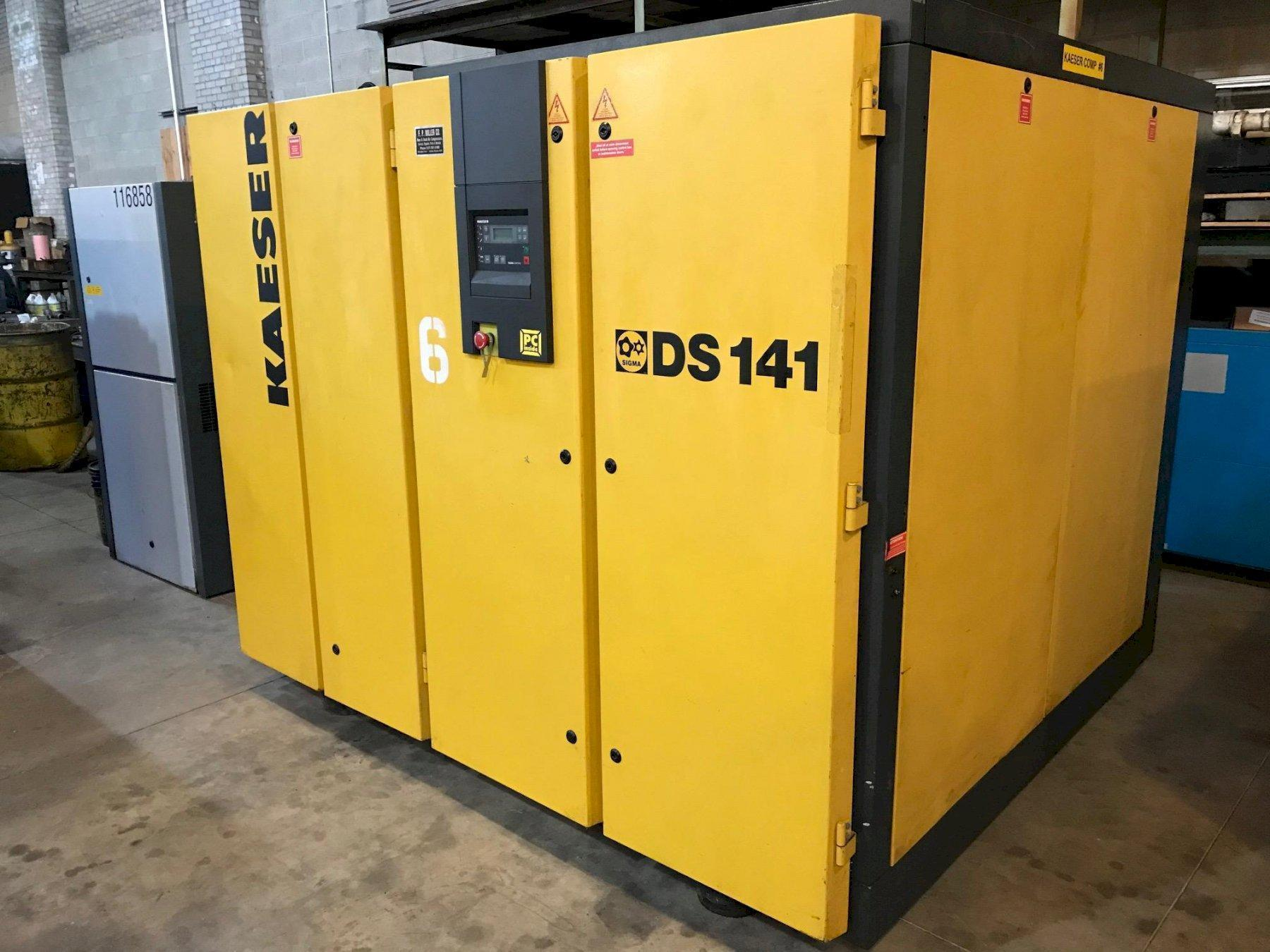 100 HP KAESER DS 141 ROTARY SCREW/SLIDING VANE AIR COMPRESSOR