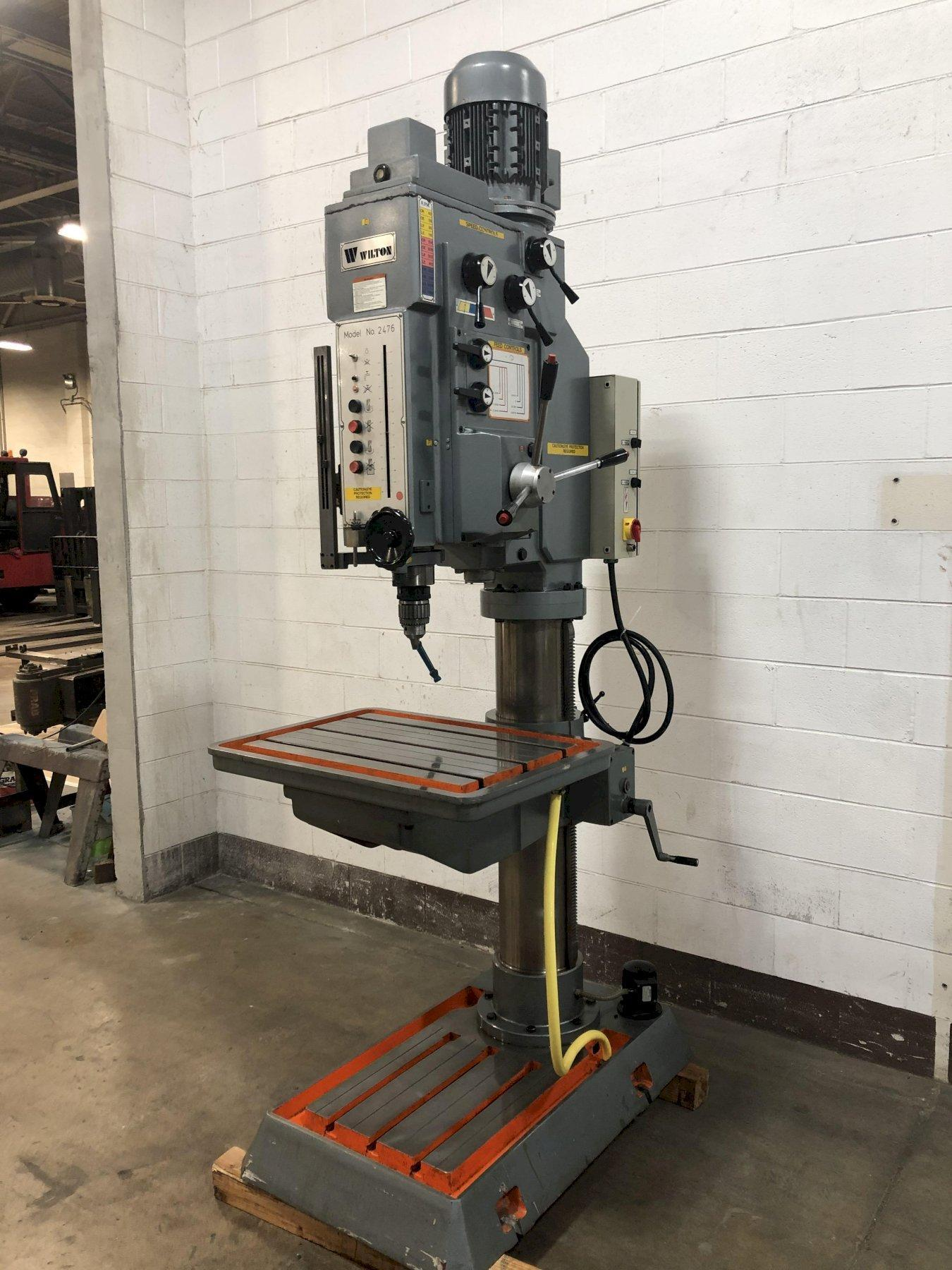 "33"" Wilton Model 2476 Heavy Duty Geared Head Direct Drive Drilling and Tapping Machine"