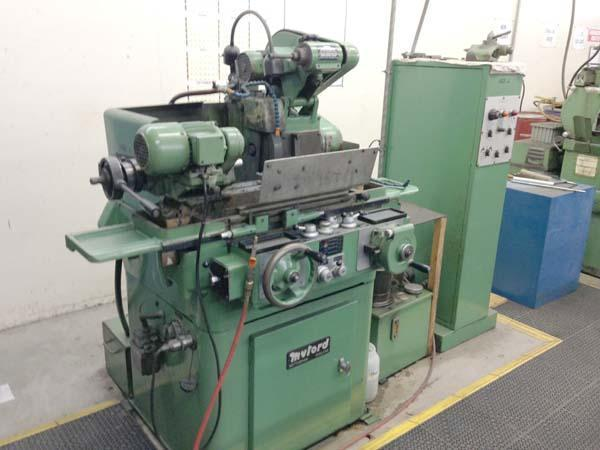 """5""""x 12"""" MYFORD PRECISION UNIVERSAL CYLINDRICAL Model MG-12 HAR, 5"""" Swing, 12"""" Centers, 14"""" Grinding Wheel, Vari-Speed Workhead, Auto Cycles, Spark-out Timer, Swing Down ID, Tooling, New 1981."""