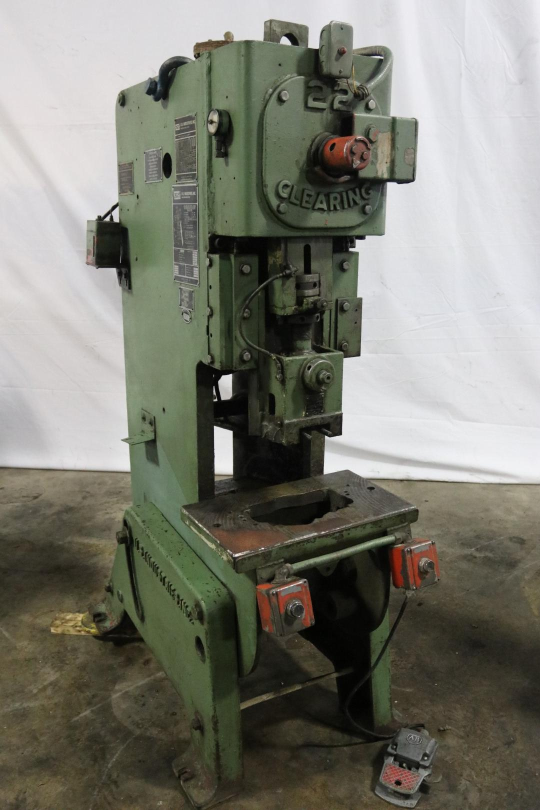 22 TON CLEARING OBI TORC PAC MECHANICAL PRESS: STOCK #10497