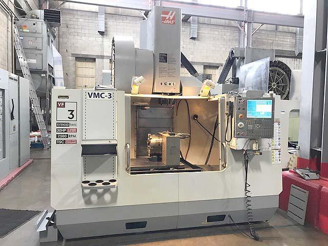 """HAAS VF-3YT/50, Haas CNC Control, Remote Hand Held Pendent, 52"""" x 23"""" Table, X=40"""", Y=26"""", Z=25"""", 7500 RPM, Cat-50, 30 Station Tool Changer, 12"""" Full Contouring 4th Axis Rotary Table, Thru Spindle Coolant, Probes, New 2009."""