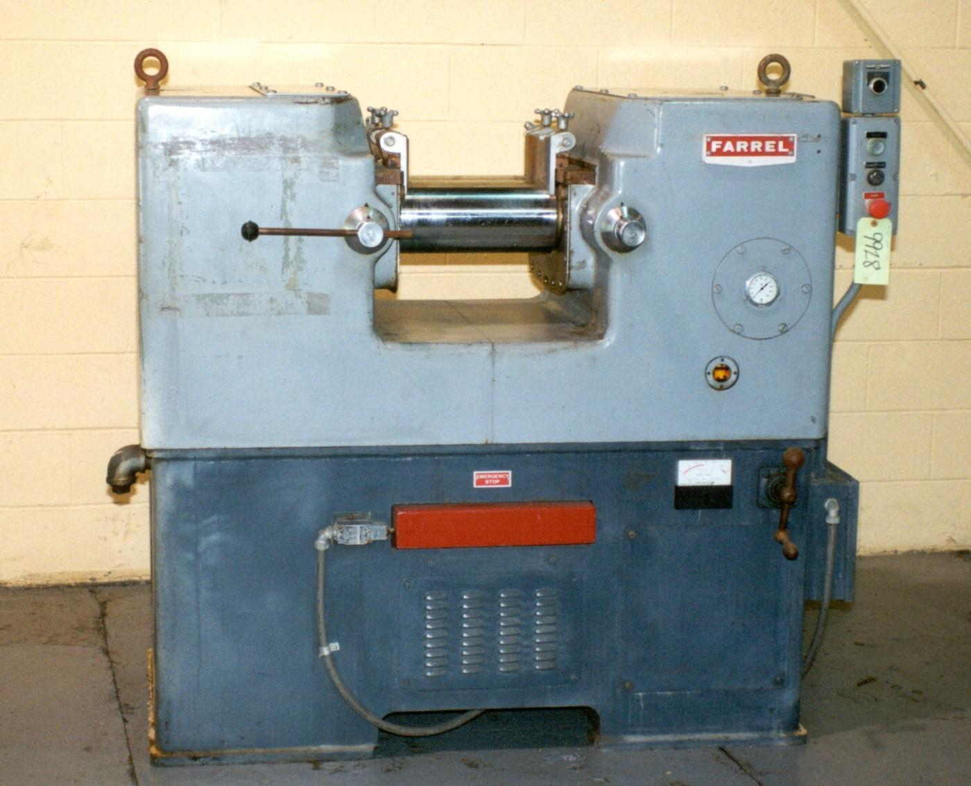 6' X 13' FARREL 2-ROLL LABORATORY MILL:  STOCK #9928