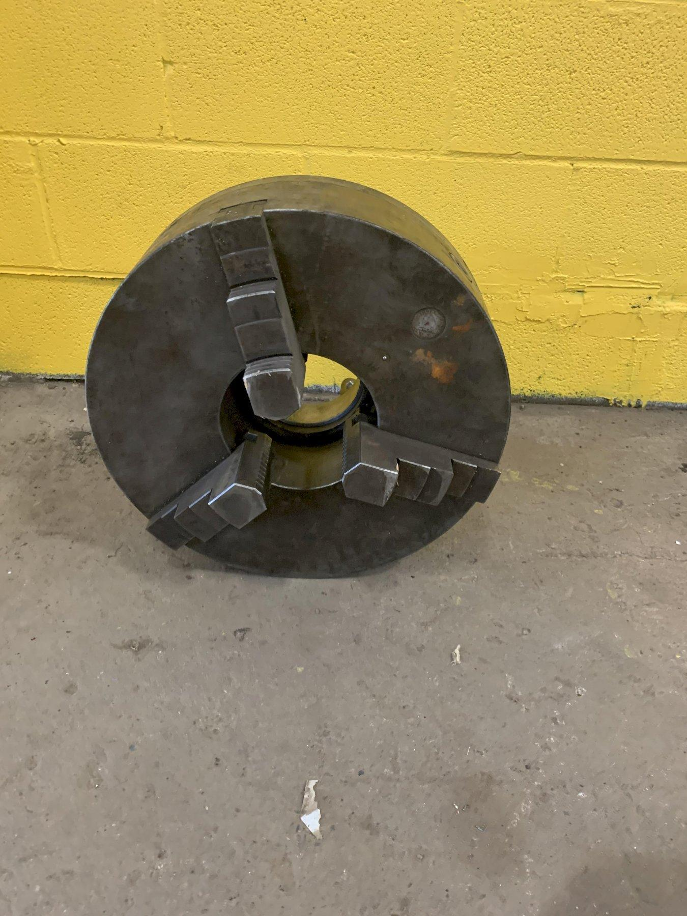"18"" 3 JAW LATHE CHUCK WITH D1-8 MOUNT: STOCK #12924"