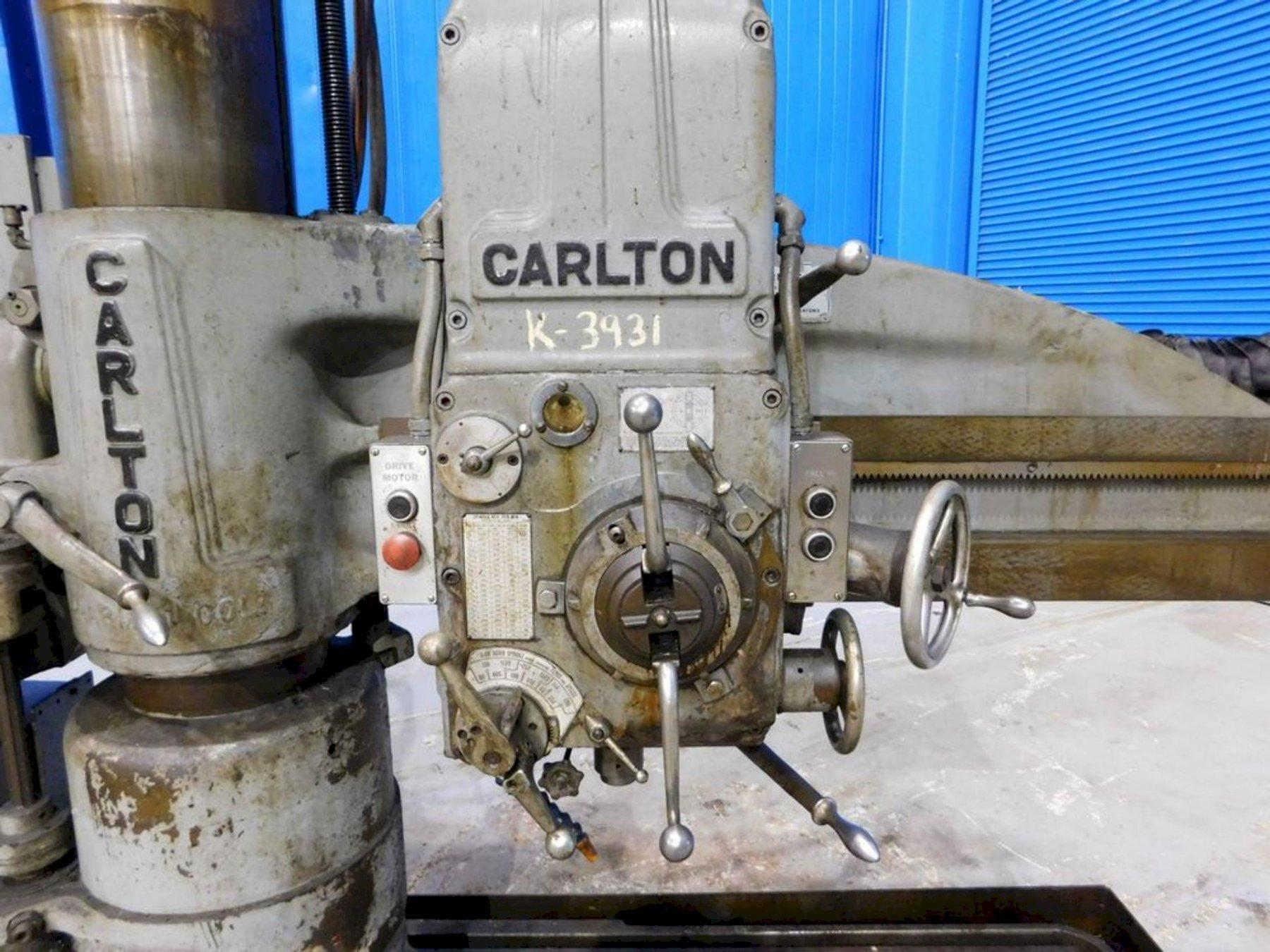 "4'  X 9"" CARLTON 1A RADIAL ARM DRILL. STOCK # 0738521"