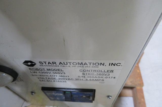 Star Used LW-1200V-360V3 Full Servo Robot, Year 2007