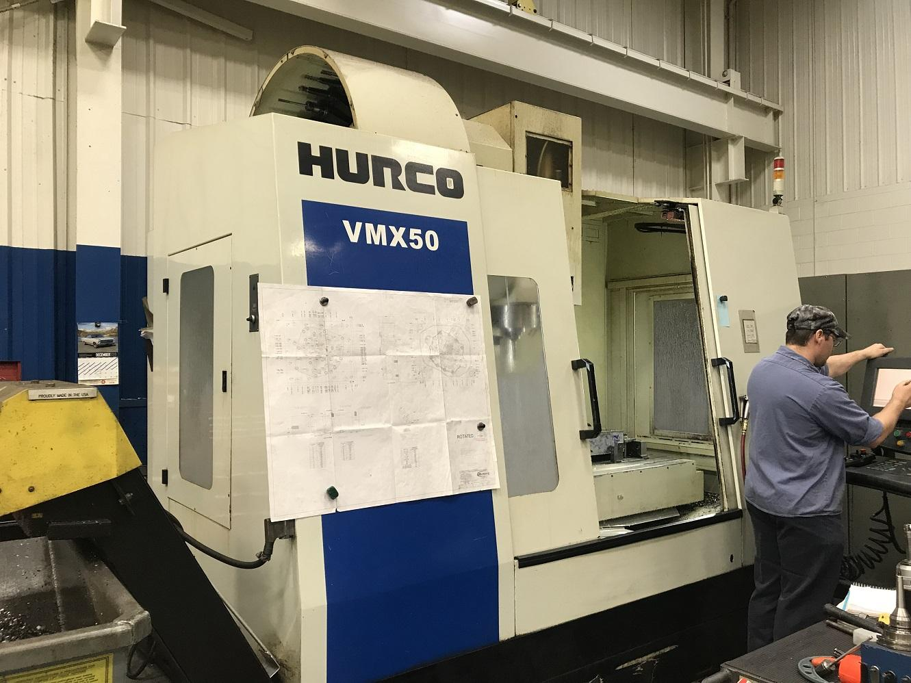 "Hurco VMX50, WinMax, 50""/24""/24"" Travels, 8K Spindle, 50 Taper, Coolant Thru Spindle,  30 ATC, 25 Horsepower, NC Productivity Pkg, Chiller, Many Control Options, New Spindle ('17), New Chiller ('16), 2011"