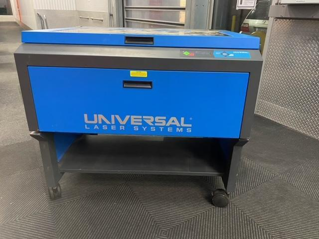 "Universal Laser System PLS 6.75 Engraving Laser 2016 with: Coaxial Air Assist and 18"" x 32"" Honeycomb Cutting Table."