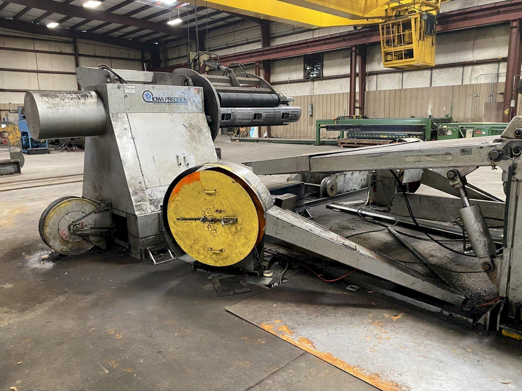 "72"" X .075 X 50,000 LB IOWA PRECISION SLEAR #3 SLITTING CUT TO LENGTH LINE STOCK #2177"