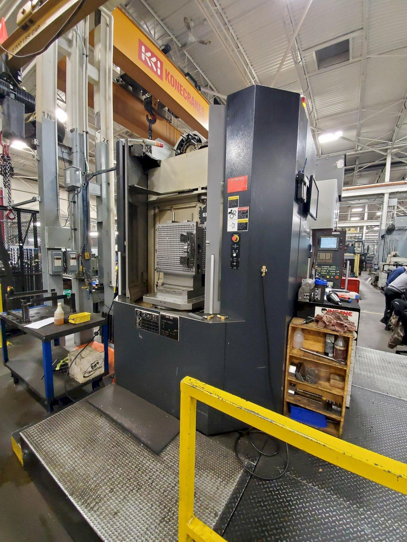 OKK HM600 CNC Horizontal Machining Center, Fanuc 31iMB, Full 4th, 24.8