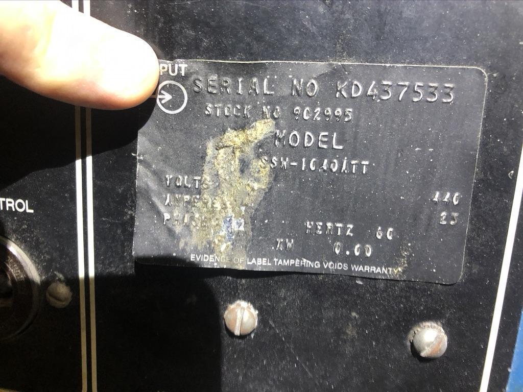 MILLER RESISTANCE SPOT WELDER SSW-1040ATT