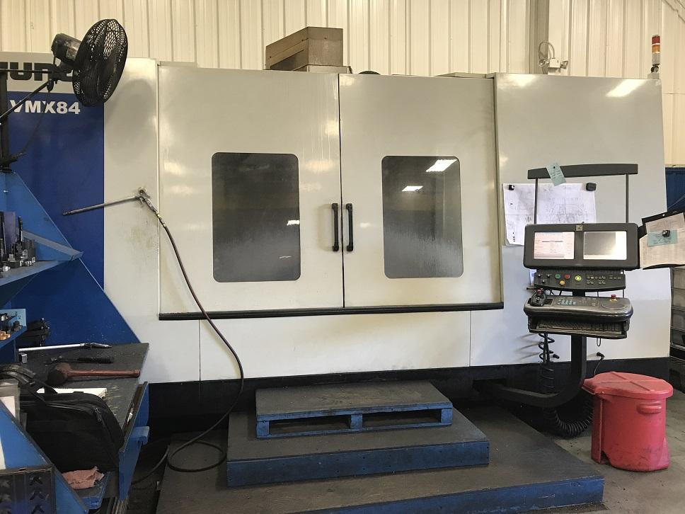 "Hurco VMX84 CNC Vertical Machining Center, WinMax, 84""/34""/30"" Travels, 8K Spindle, 50 Taper, 32 ATC, 30 Horsepower, Coolant Thru Spindle, DXF, NC Pkg, New Spindle ('16), New Chiller ('16), New Y-Axis Screw and Bearings, 2012"