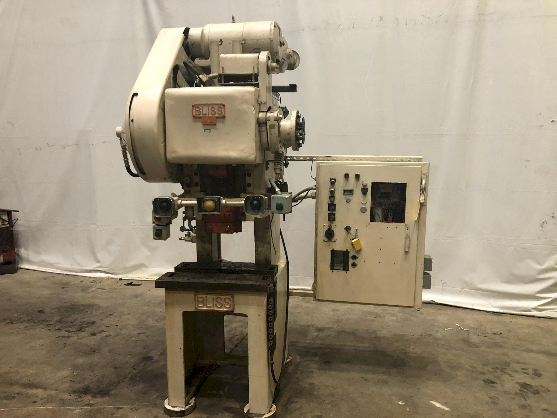 35 TON BLISS MODEL #CH35 VARIABLE HIGH SPEED GAP FLYWHEEL PRESS: STOCK #13777