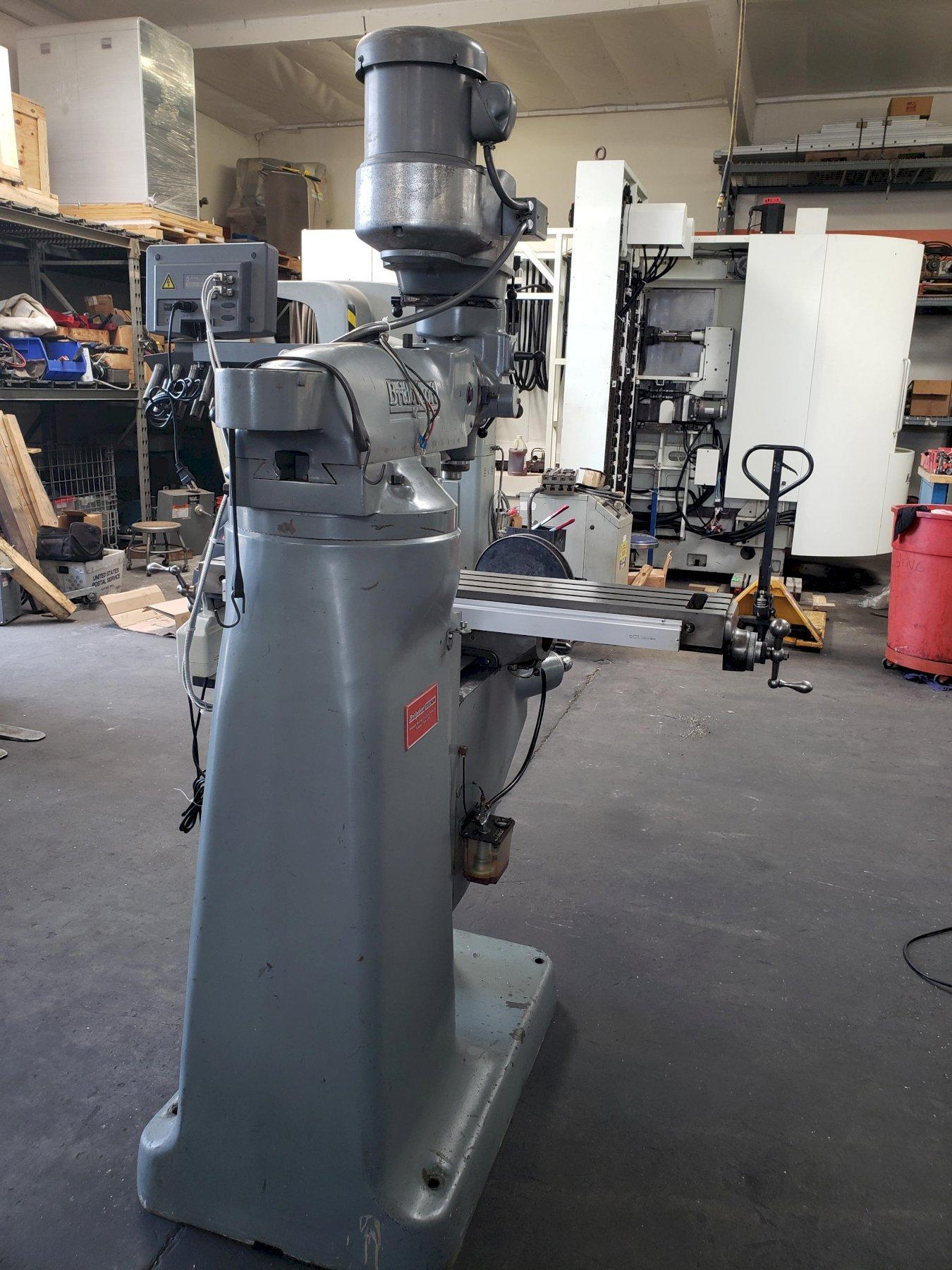 Bridgeport Series 1 Vertical Mill with Sino SDS6-2V DRO, Align Power Feed Table, and One Shot Lube.