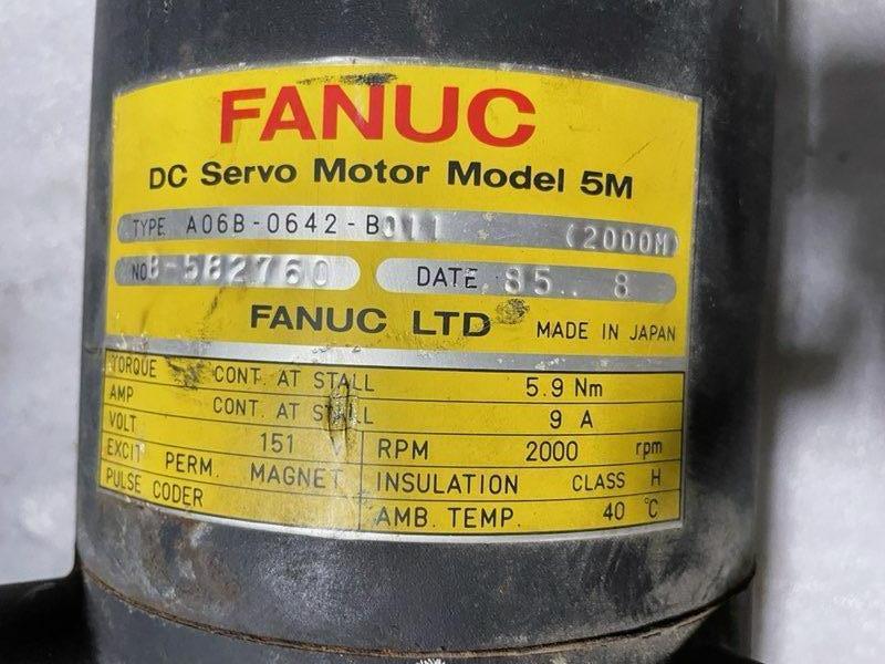 FANUC DC SERVO MOTOR Mdl 5M