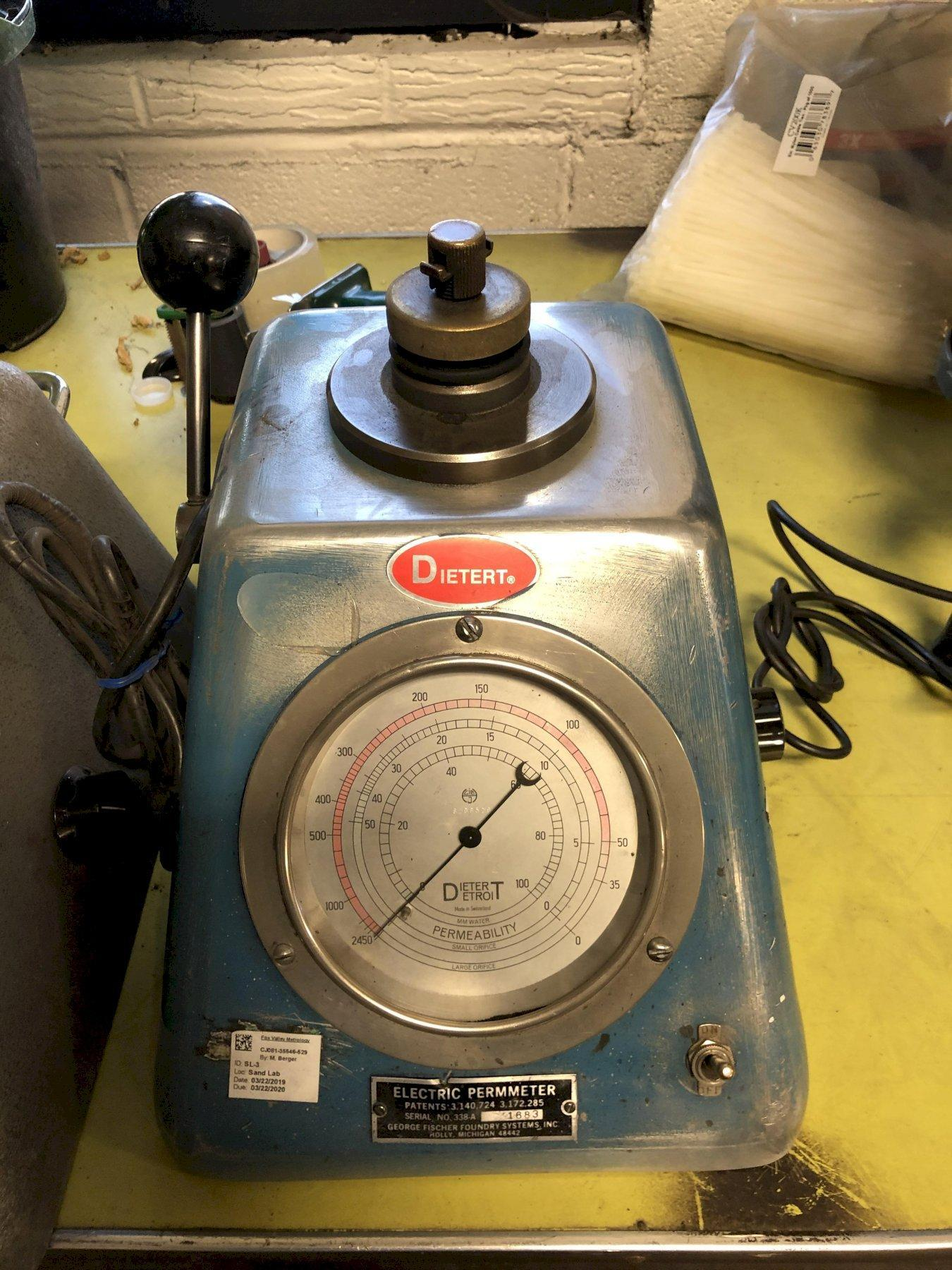 DIETERT MODEL 338-A ELECTRIC PERMMETER S/N 1683