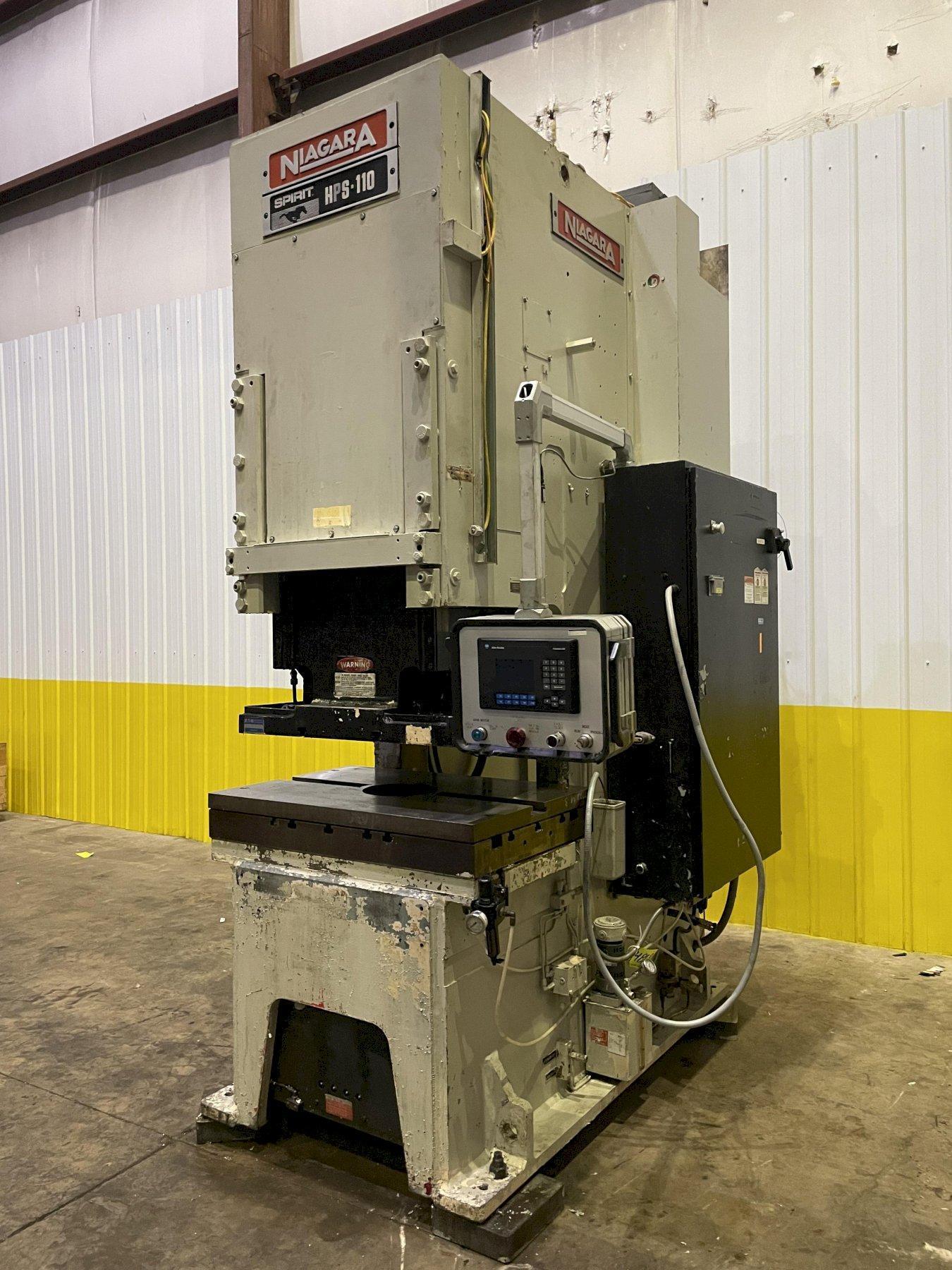 120 TON NIAGARA MODEL HPS-110 HYDRAULC C-FRAME PRESS: STOCK #14868