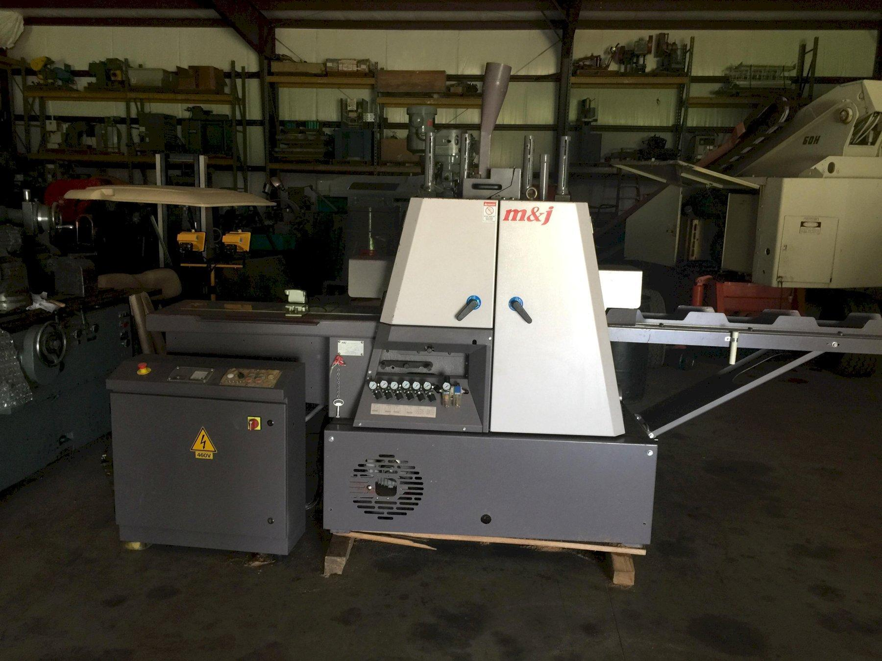 Mick & Jack Machinery F15 Thin Cutting Frame Saw 2016 with Turbo 1-HP Blower, Infeed and Outfeed Channel.