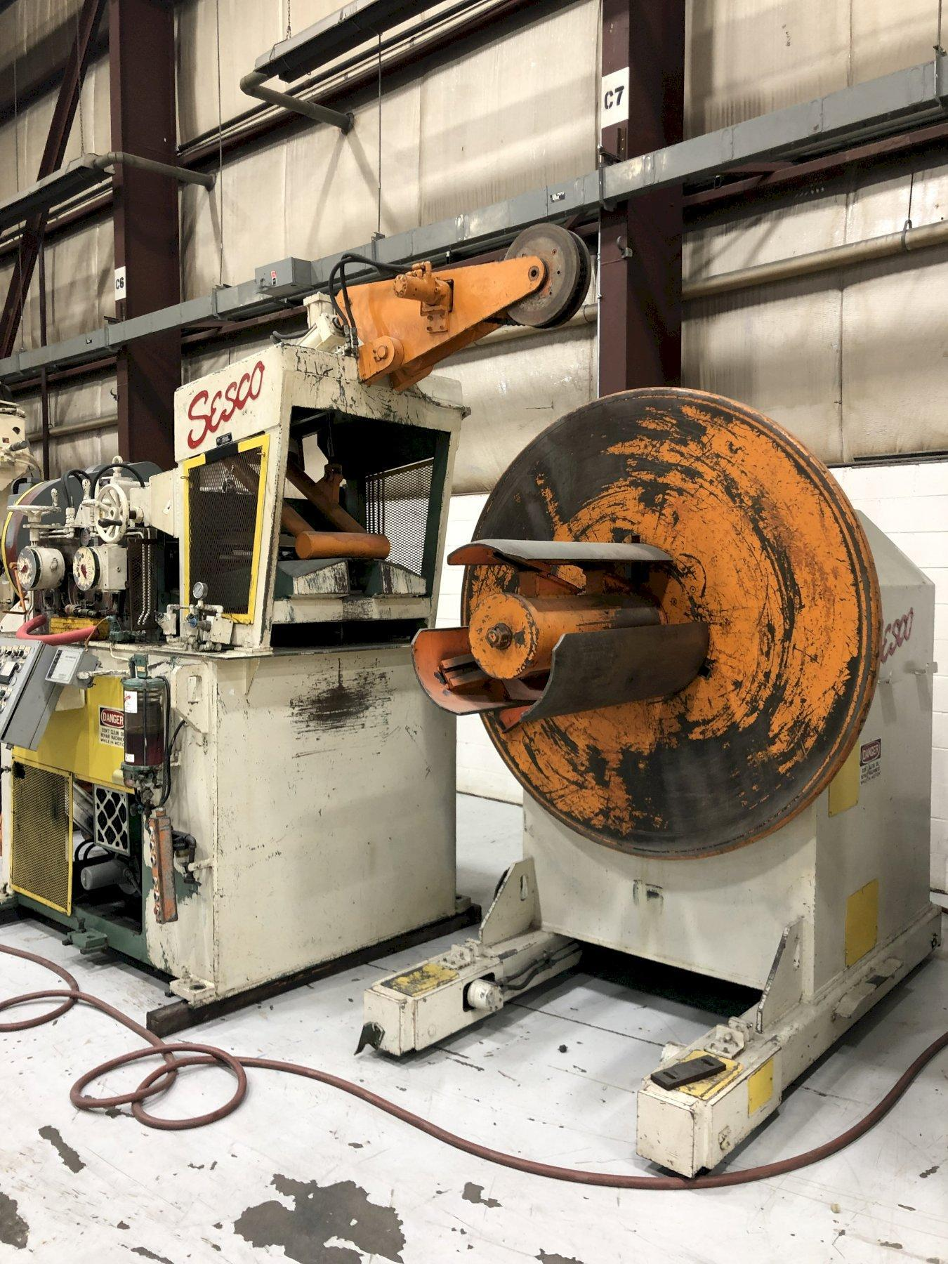 "30000 Lbs SESCO, 30"" Max Coil Width, Straightener and Servo Feed"