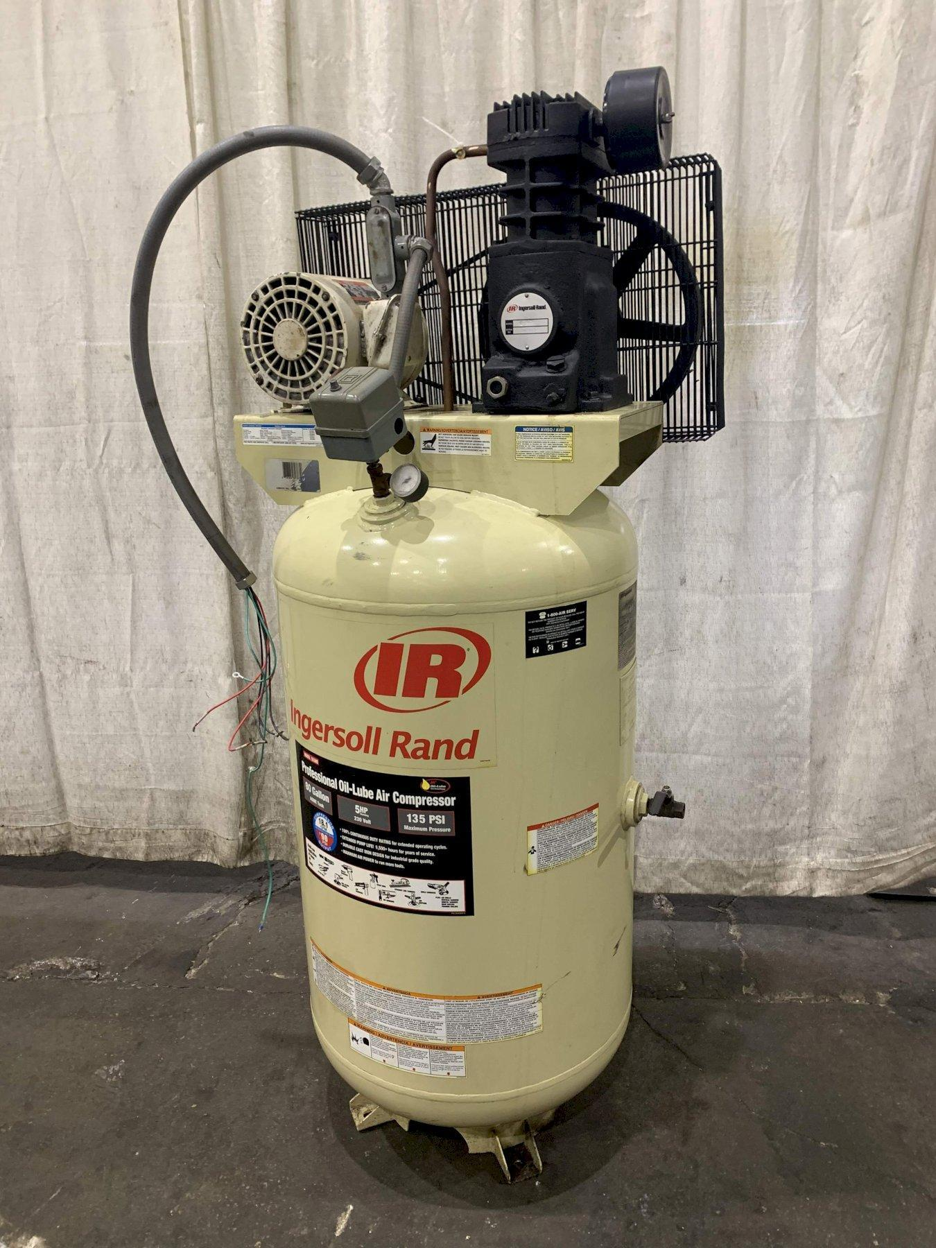 5 HP INGERSOLL RAND AIR COMPRESSOR: STOCK #72746