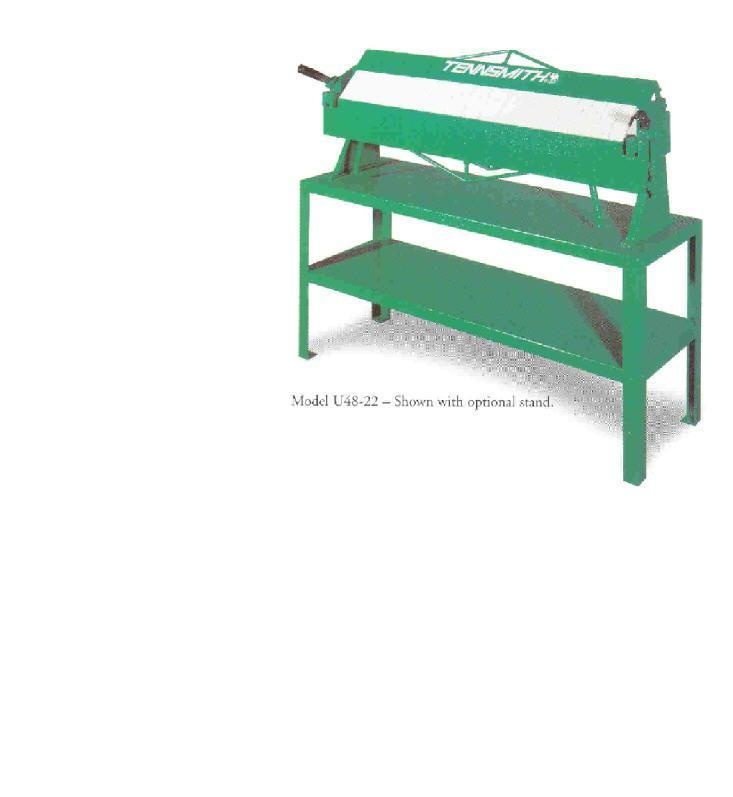 New Tennsmith Bench Box & Pan Brake Model U48-22