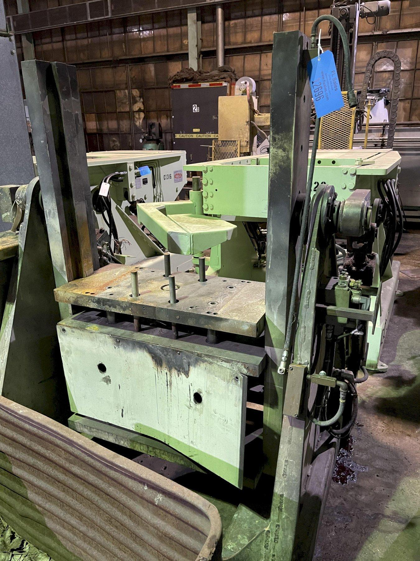 """Hall model RT3 permenant molding machine with controls s/n 7315, 33"""" x 20"""" platen"""