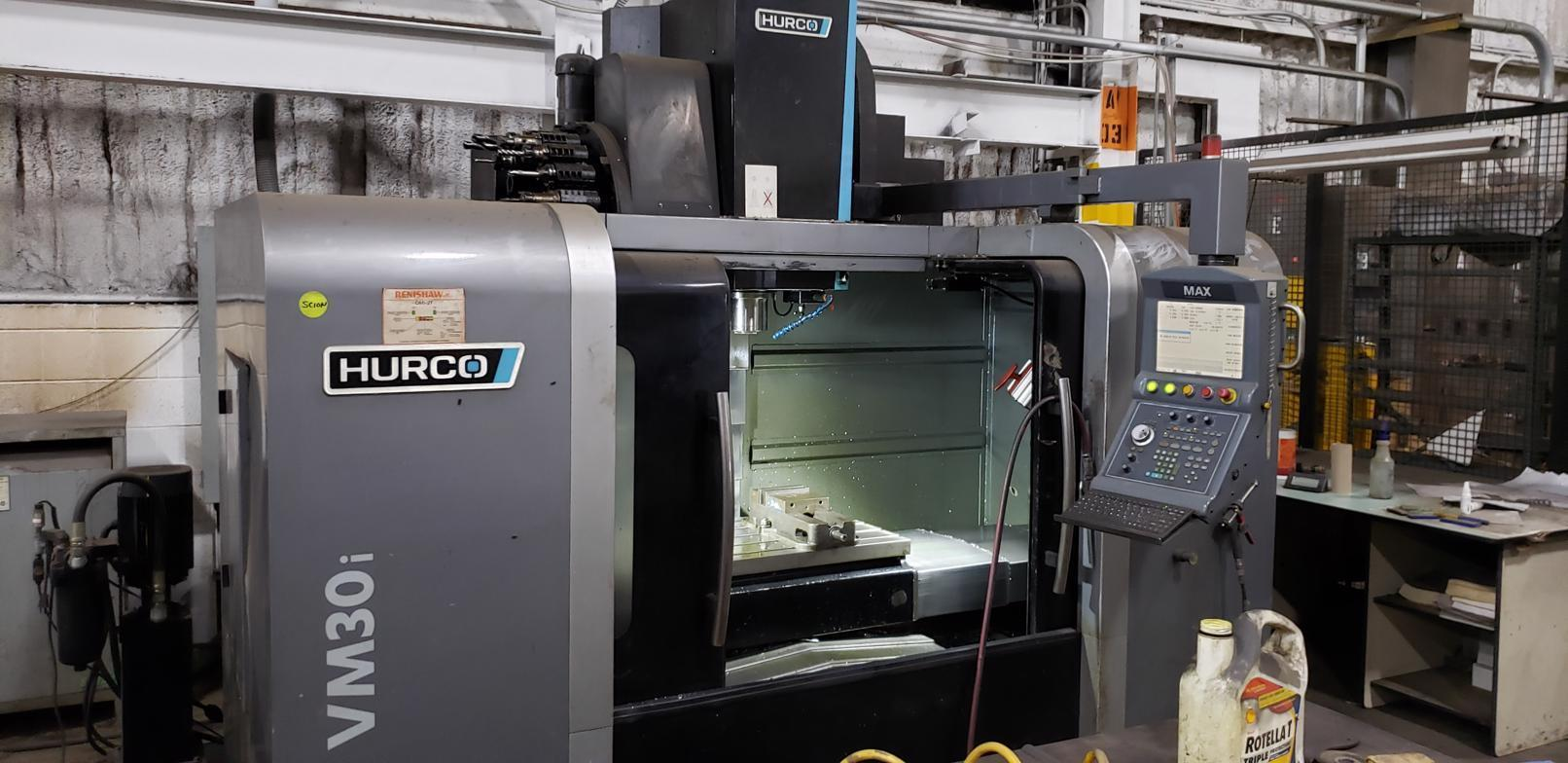 USED HURCO 4 AXIS VERTICAL CNC MACHINING CENTER MODEL VM30i, STOCK# 10799, YEAR 2013