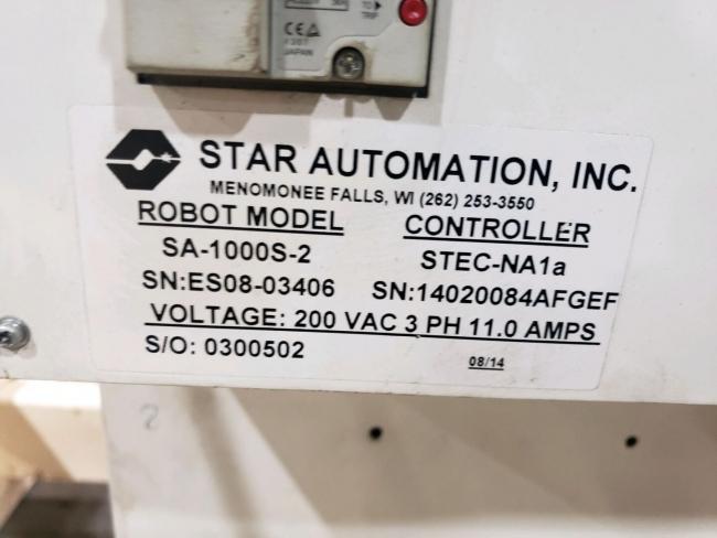 Star Used SA-1000S-2 Dual Arm Servo Robot, 200 to 350 US ton, Yr. 2014