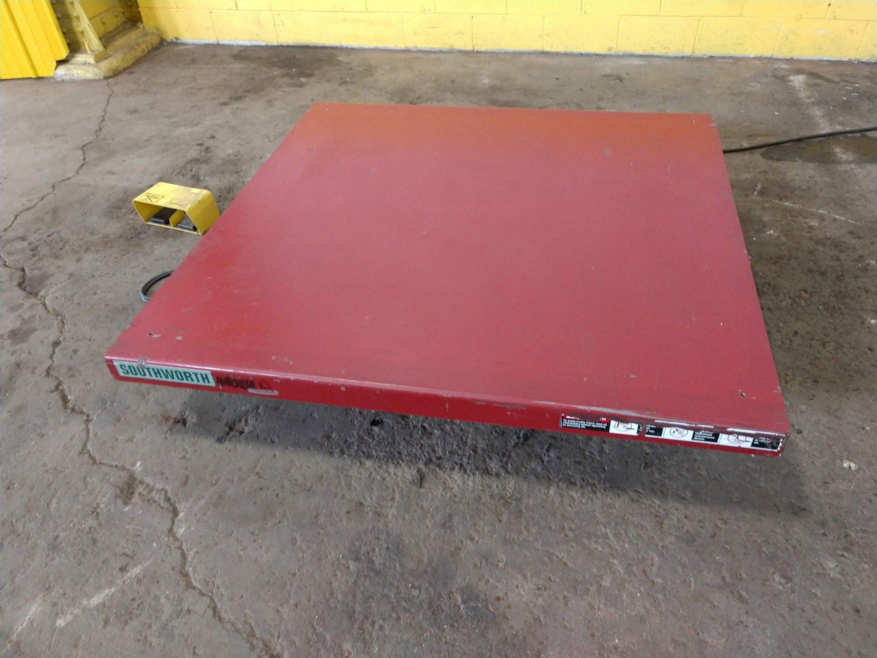 "2,000 LB X 60"" X 60"" ELECTRIC SCISSOR LIFT TABLE: STOCK #13269"