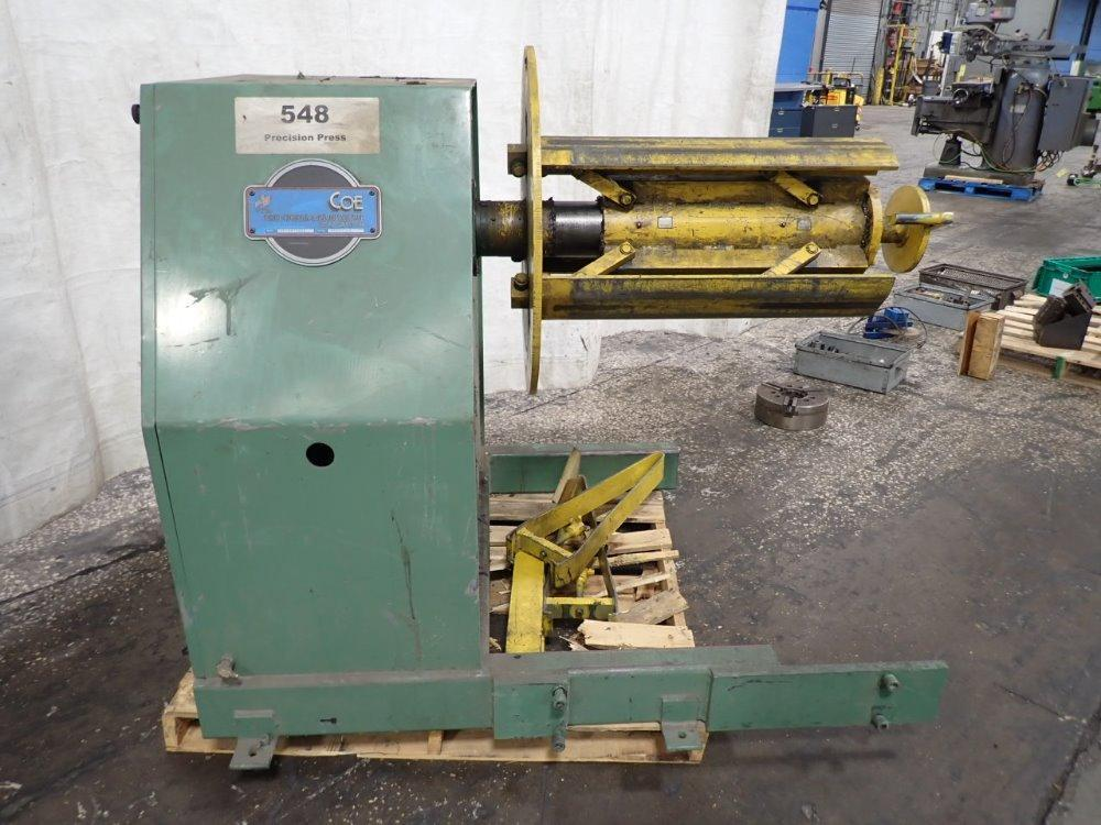 """(T) Coe Press Coil Reel And Straightener Combination 8,000 Lbs. x 18"""" Wide"""