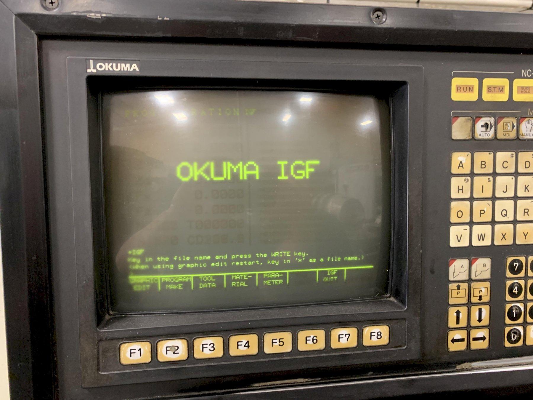 "Okuma Cadet LNC-8 Turning Center with IGG and 10"" Chuck, S/N C496."