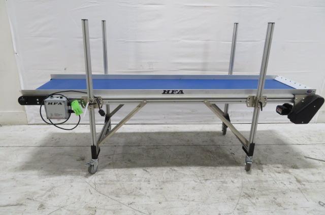 HFA Used 2210 Horizontal Variable Speed Flat Belt Conveyor, 24 in x 8 ft, 115V, Yr. 2016