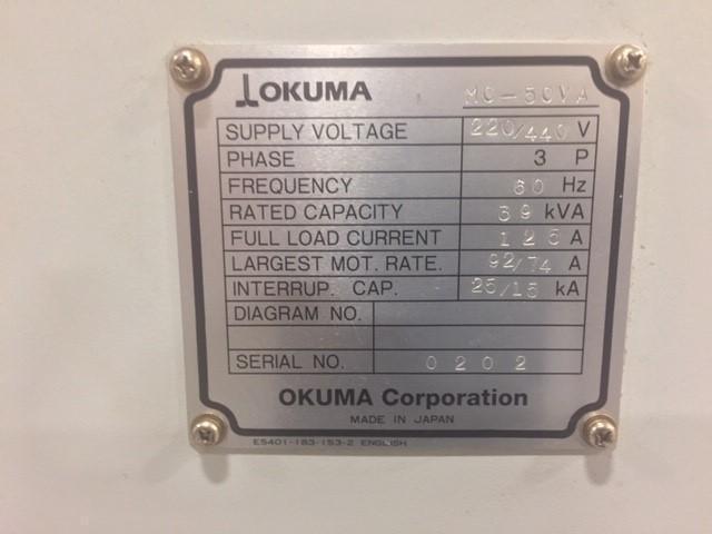 Okuma MC - 50VA Vertical Machining Center