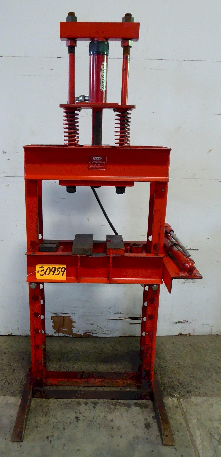 25 Ton Dayton H-Frame Hydraulic Press 3Z916A