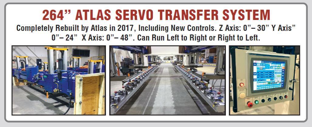 """(2017) 264"""" ATLAST SERVO TRANSFER SYSTEM. BRAND NEW! NEVER INSTALLED! STOCK # 0952720"""
