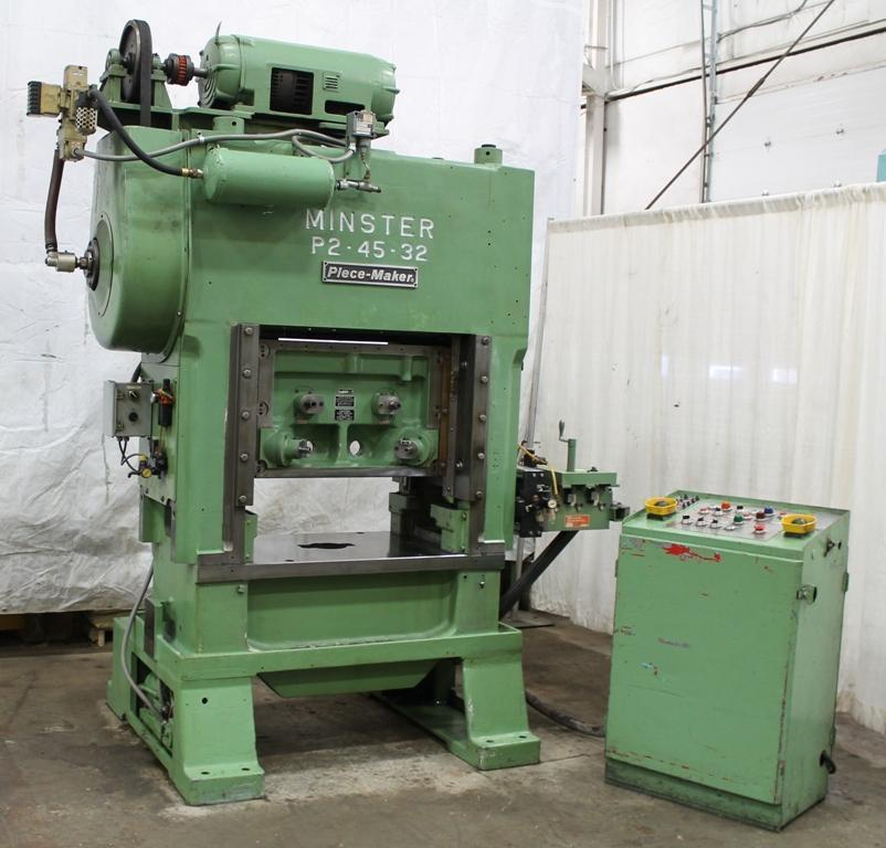 45 TON MINSTER P2-45-32 HIGH SPEED PRESS: STOCK #12936