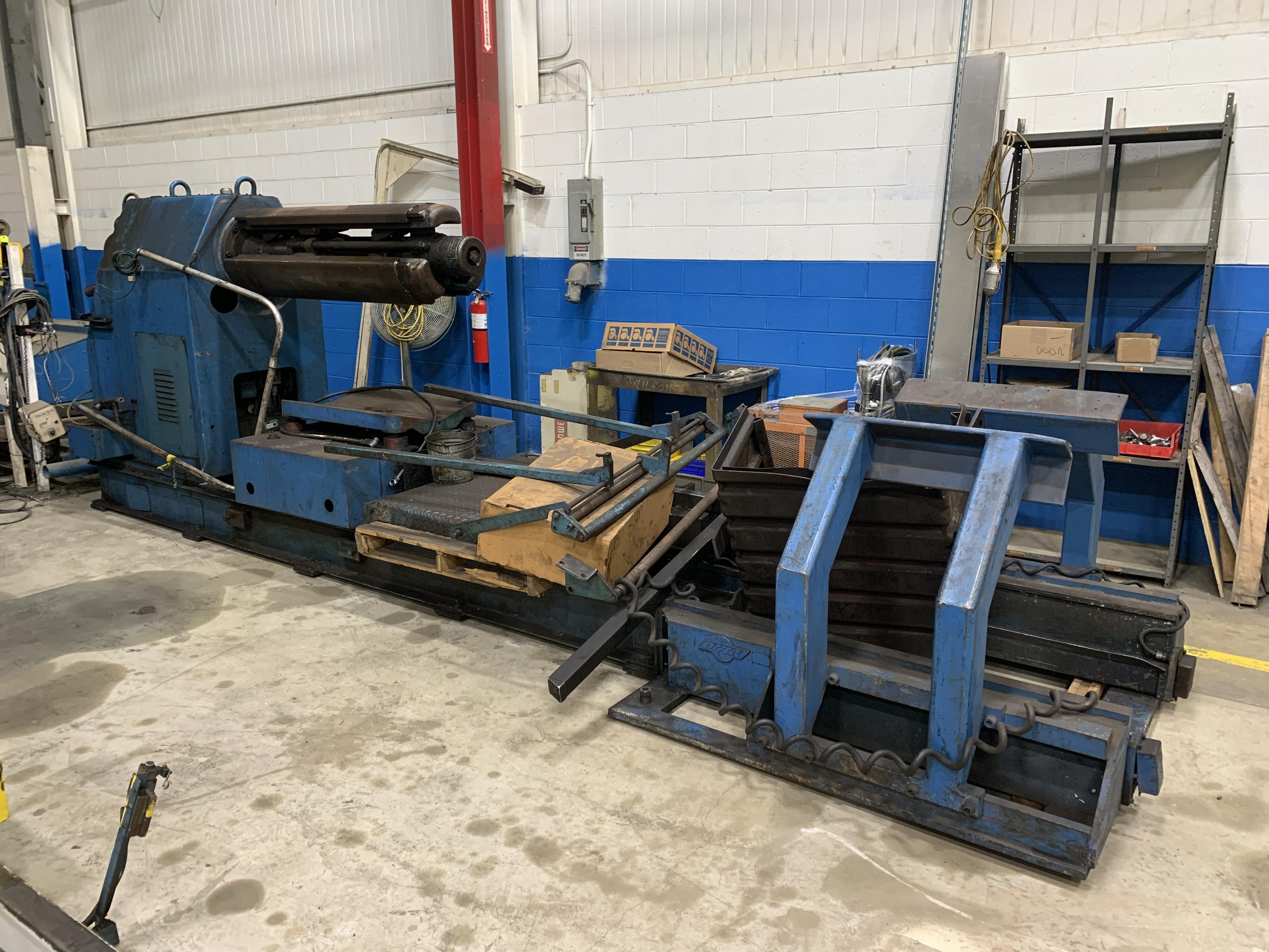 Littell Coil Reel Uncoiler And Powered Coil Straightener 20,000 Lbs.