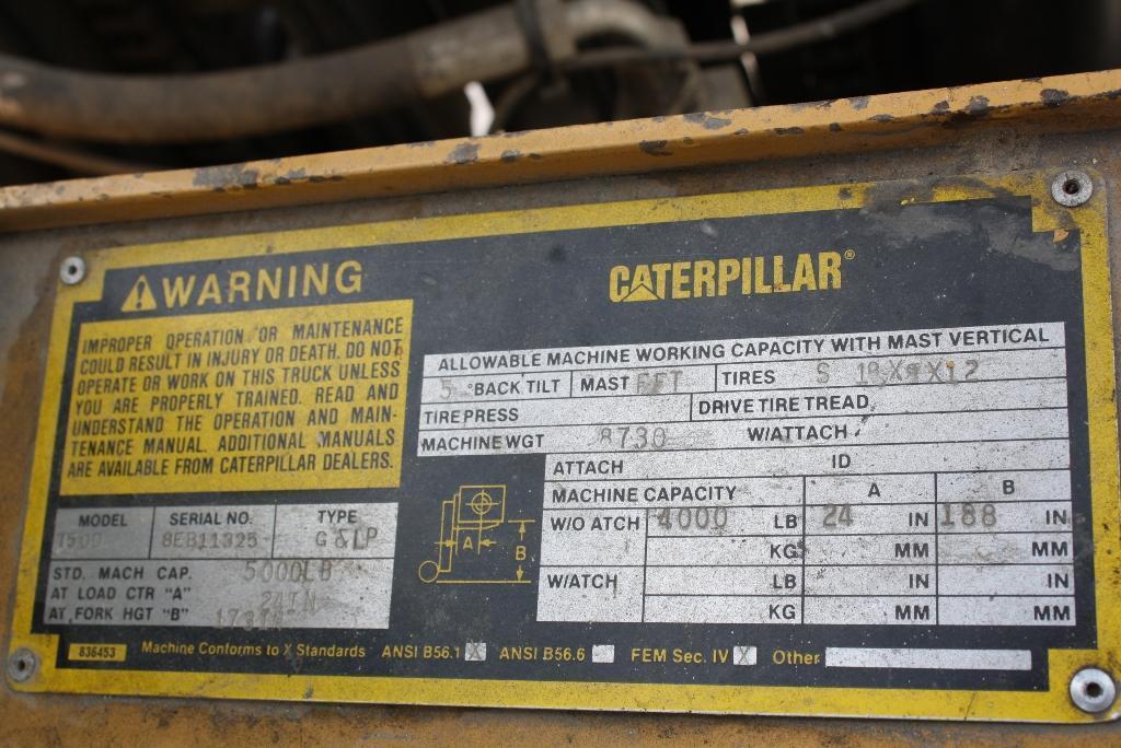 5,000 LB CATERPILLAR FORKLIFT: STOCK #64297